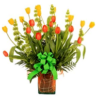 Brilliant Blossoming Beauty of Tulip Arrangement