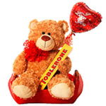 Amazing Valentine's Romantic Teddy bear and Toblerone