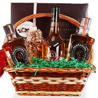 Bright Celebration Gift Basket with Wine