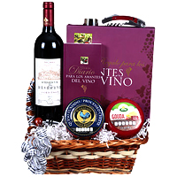 Special Combination of Red Wine with Gourmet Gift