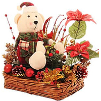 Cute Xmas Teddy Arrangement